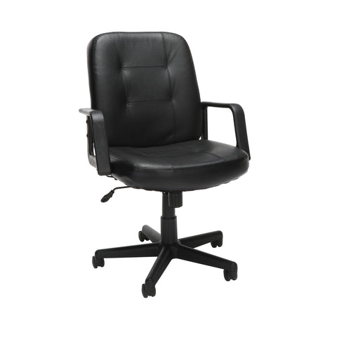 OFM Executive Collection Model 505-L Leather Low-Back Conference Chair, Black ; UPC: 811588014521 ; Image 1