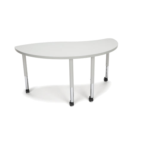 OFM Adapt Series Ying Student Table - 20-28? Height Adjustable Desk with Casters, Gray Nebula (YING-SLC) ; UPC: 845123096796 ; Image 1