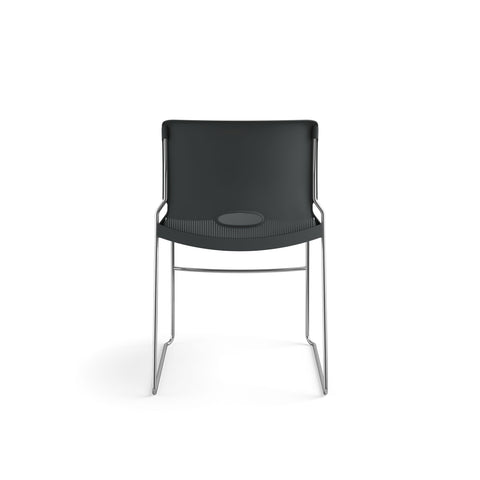 HON Olson Stacking Chair - Guest Chair for Office, Cafeteria, Break Rooms, Training or Multi-Purpose Rooms, Lava Shell, 4 pack (HON4041LA) ; UPC: 791579239860 ; Image 3