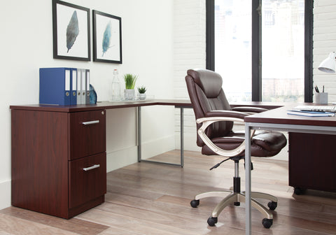 Essentials by OFM ESS-6020 Executive Office Chair, Brown with Champagne Frame ; UPC: 845123093269 ; Image 13