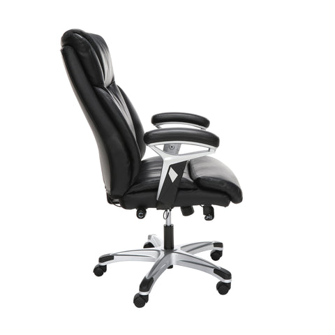 OFM Essentials Series Ergonomic Executive Bonded Leather Office Chair, in Black (ESS-6046-BLK) ; UPC: 192767000291 ; Image 4