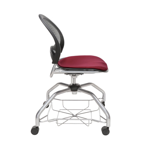 OFM Moon Foresee Series Chair with Removable Fabric Seat Cushion - Student Chair, Burgundy (339) ; UPC: 845123094457 ; Image 4