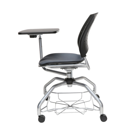 OFM Stars Foresee Series Tablet Chair with Removable Fabric Seat Cushion - Student Desk Chair, Slate Gray (329T) ; UPC: 845123094242 ; Image 5