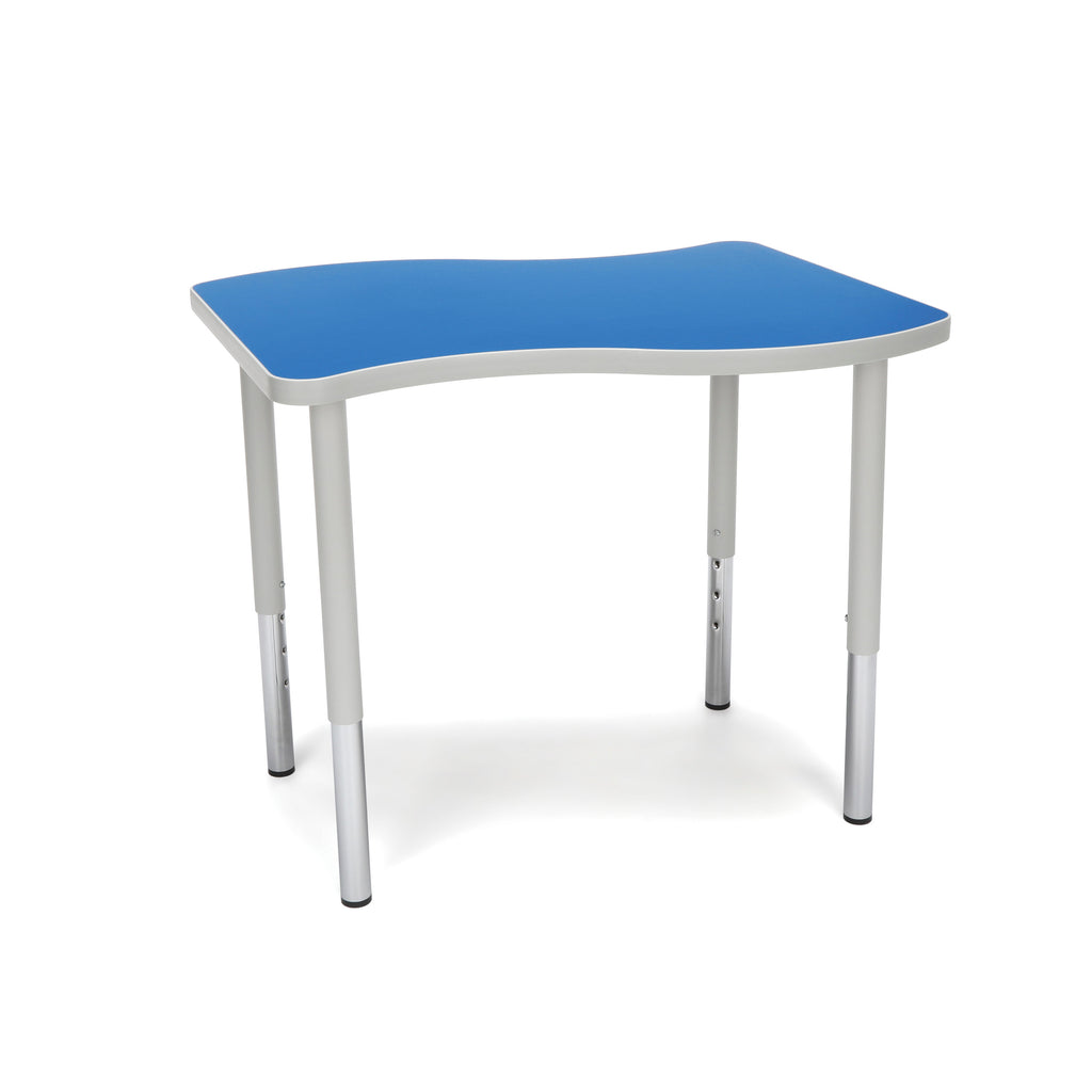 "OFM Adapt Series Small Wave Standard Table - 23-31"" Height Adjustable Desk, Blue (WAVE-S-LL) ; UPC: 845123097038 ; Image 1"