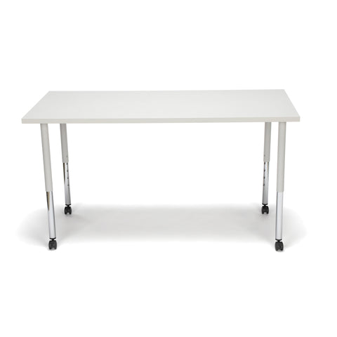 OFM Adapt Series Rectangle Standard Table - 25-33? Height Adjustable Desk with Casters, Gray Nebula (RECT-LLC) ; UPC: 845123096079 ; Image 3