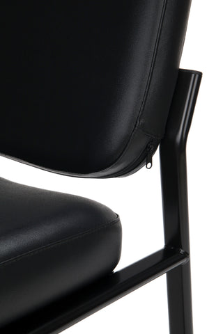 OFM Model 405-VAM Armless Guest and Reception Chair, Anti-Microbial/Anti-Bacterial Vinyl, Black ; UPC: 811588014361 ; Image 7
