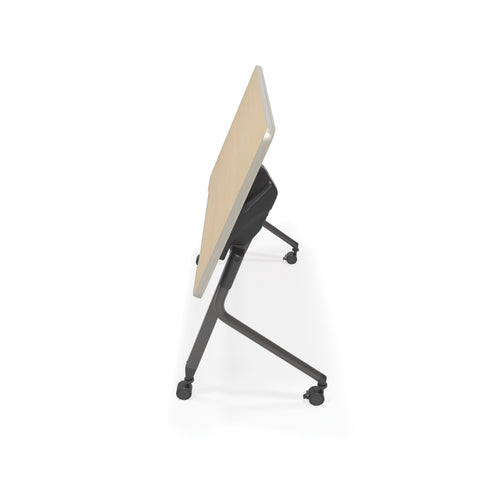 "OFM Mesa Series Model 66122 Flip Nesting Training Table and Desk, 23.5"" x 47.25"", Maple ; UPC: 845123080320 ; Image 5"