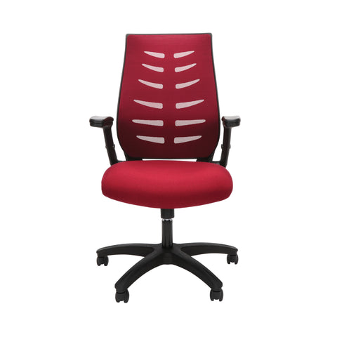 OFM Model 530-BURG Core Collection Midback Mesh Office Chair for Computer Desk, Burgundy ; UPC: 192767000345 ; Image 2