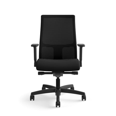HON Ignition Series Mid-Back Work Chair - Mesh Computer Chair for Office Desk, Black (HIWM2) ; UPC: 745123568005 ; Image 2