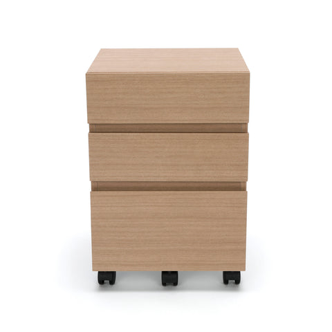 OFM Essentials 3-Drawer Wheeled Mobile Pedestal Cabinet, Harvest (ESS-1030-HVT) ; UPC: 845123090619 ; Image 2