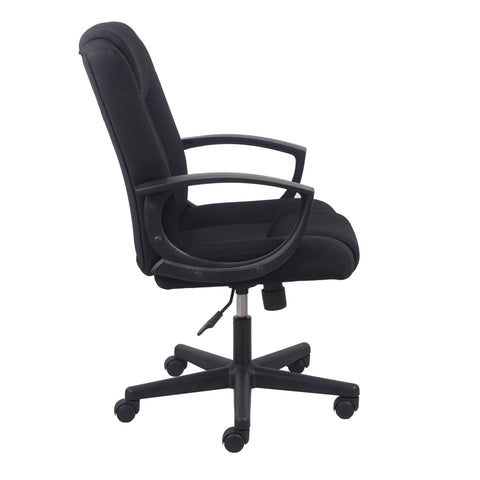 Essentials by OFM ESS-3080 Mid-Back Swivel Upholstered Task Chair, Black ; UPC: 089191013228 ; Image 4