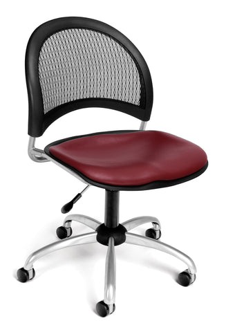 OFM Moon Series Model 336-VAM Anti-Microbial/Anti-Bacterial Vinyl Armless Swivel Task Chair, Wine ; UPC: 845123014578 ; Image 1