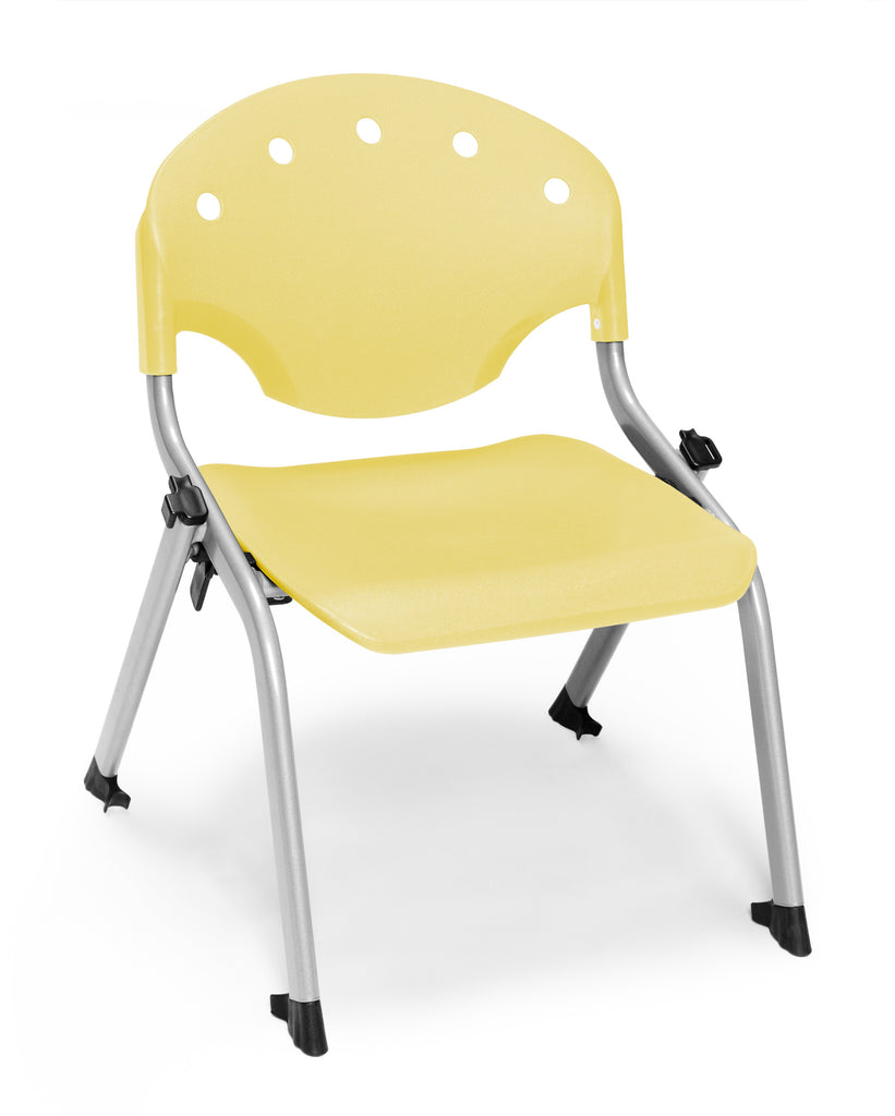 "OFM 305-12-P23 Student Stack Chair, 12"" Height, Yellow (Pack of 4) ; UPC: 845123022030 ; Image 1"
