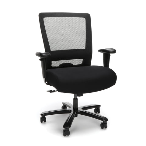 Essentials by OFM ESS-3049 Big and Tall Ergonomic Mesh Chair, Black ; UPC: 845123095249 ; Image 1