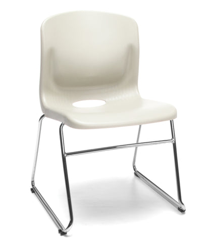 OFM Model 315 Multi-Use Stack Chair, Plastic Seat and Back, Ivory ; UPC: 845123034781 ; Image 1