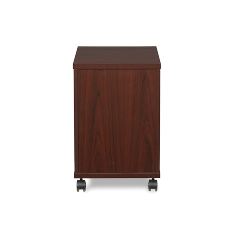 OFM Fulcrum Series Locking Pedestal, Mobile 2-Drawer Filing Cabinet, Mahogany (CL-MBF-MHG) ; UPC: 845123097533 ; Image 3