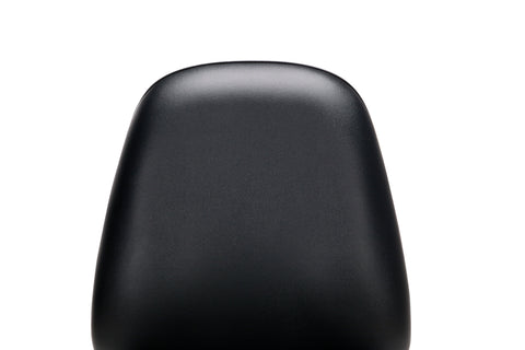 OFM Straton Series Armless Swivel Task Chair, Anti-Microbial/Anti-Bacterial Vinyl, Mid Back, in Black (119-VAM-606) ; UPC: 811588012664 ; Image 6