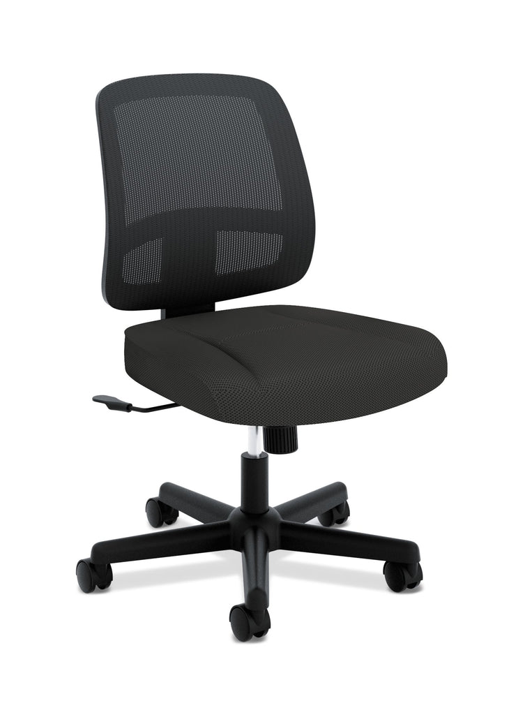 HON ValuTask Task Chair, Mesh Back Computer Chair for Office Desk, Black (HVL205) ; UPC: 089191179368 ; Image 1