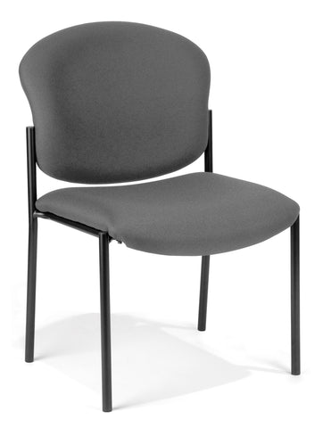 OFM Armless Stack Chair, Gray ; UPC: 811588010219 ; Image 1