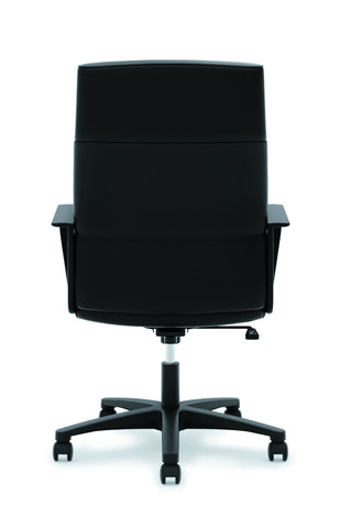 HON Validate High-Back Executive Task Chair, Fixed Arms, in Black Leather (HVL604) ; UPC: 888531643459 ; Image 3