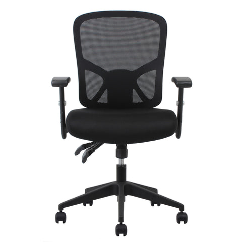 Essentials by OFM ESS-3050 3-Paddle Ergonomic Mesh High-Back Task Chair with Arms and Lumbar Support, Black ; UPC: 089191013815 ; Image 2