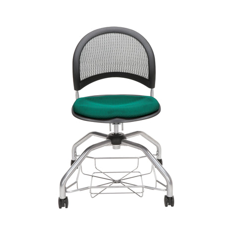 OFM Moon Foresee Series Chair with Removable Fabric Seat Cushion - Student Chair, Forest Green (339) ; UPC: 845123094495 ; Image 2