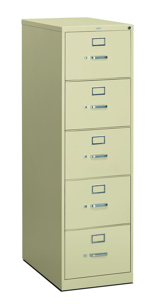 HON 310 Series Vertical File Cabinet Legal Width, 5 Drawers, Putty (H315C) ; UPC: 089192040803 ; Image 1