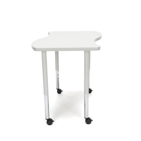 OFM Adapt Series Small Wave Standard Table - 25-33? Height Adjustable Desk with Casters, Gray Nebula (WAVE-S-LLC) ; UPC: 845123097083 ; Image 5