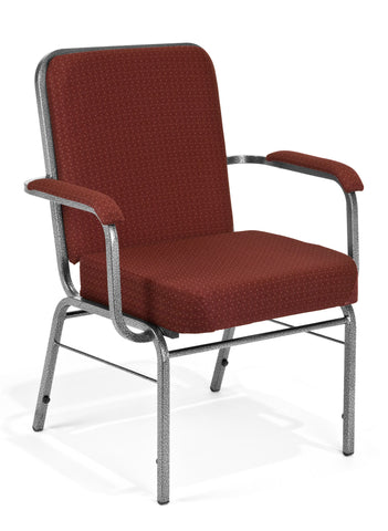 OFM Big and Tall Comfort Class Series Fabric Arm Chair, Burgundy ; UPC: 845123004050 ; Image 1