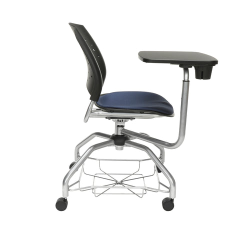 OFM Stars Foresee Series Tablet Chair with Removable Fabric Seat Cushion - Student Desk Chair, Navy (329T) ; UPC: 845123094150 ; Image 4