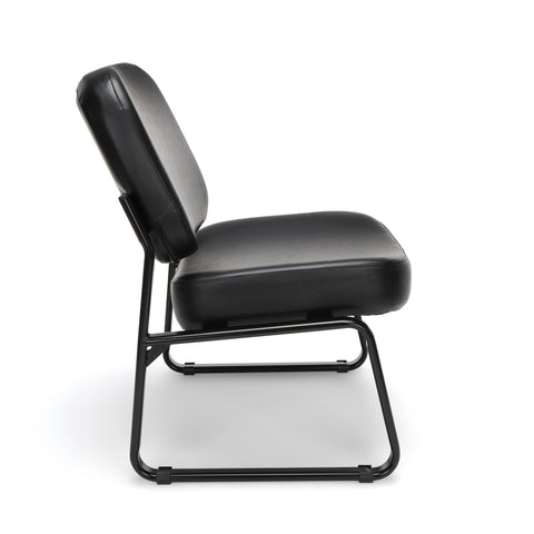 OFM Model 409-VAM Big and Tall Armless Guest and Reception Chair, Anti-Microbial/Anti-Bacterial Vinyl, Black ; UPC: 845123028704 ; Image 4