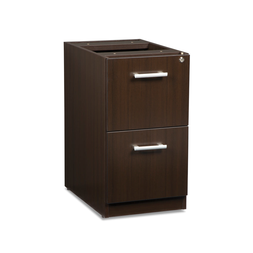 OFM Fulcrum Series Locking Pedestal, 2-Drawer Filing Cabinet, Espresso (CL-FF-ESP) ; UPC: 845123097489 ; Image 1