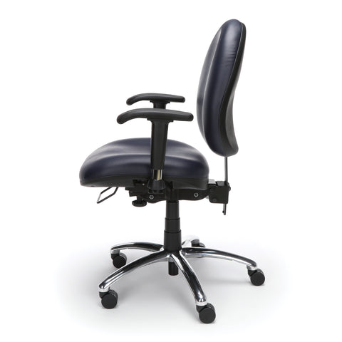 OFM Model 247-VAM 24 Hour Big and Tall Ergonomic Computer Swivel Task Chair with Arms, Anti-Microbial/Anti-Bacterial Vinyl, Navy ; UPC: 811588013043 ; Image 5