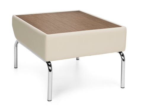 OFM Triumph Series Model 3010 Laminate Top Table with Polyurethane Border and Chrome Frame, Cream with Bronze ; UPC: 845123052525 ; Image 1