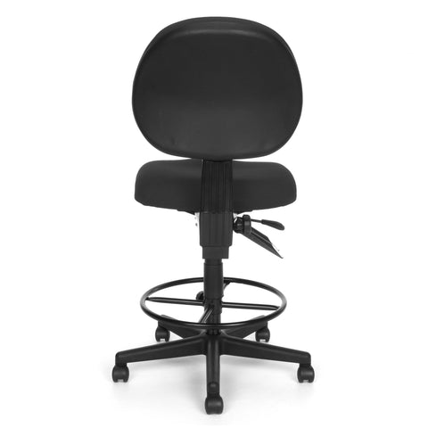 OFM 241-DK 24 Hour Ergonomic Upholstered Armless Task Chair with Drafting Kit, Charcoal ; UPC: 845123012536 ; Image 5