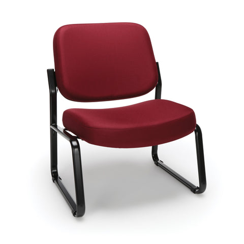 OFM Big and Tall Guest/Reception Chair, Wine ; UPC: 845123028643 ; Image 1