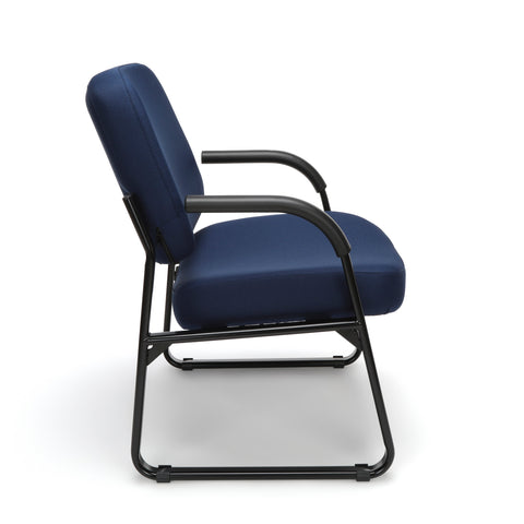 OFM Model 407 Fabric Big and Tall Guest and Reception Chair with Arms, Navy ; UPC: 845123028575 ; Image 4