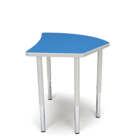 OFM Adapt Series Crescent Standard Table - 23-31? Height Adjustable Desk, Blue (CREST-LL) ; UPC: 845123096505 ; Image 5