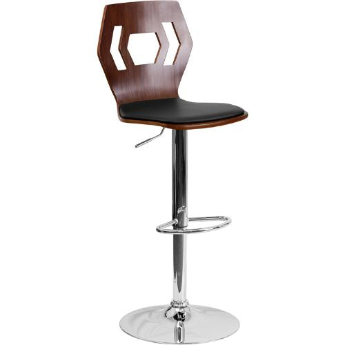 Flash Furniture Adjustable Bar Stool | Counter Height Wood Bar Stool�with Back SD2162WALGG ; Image 1 ; UPC 847254066341