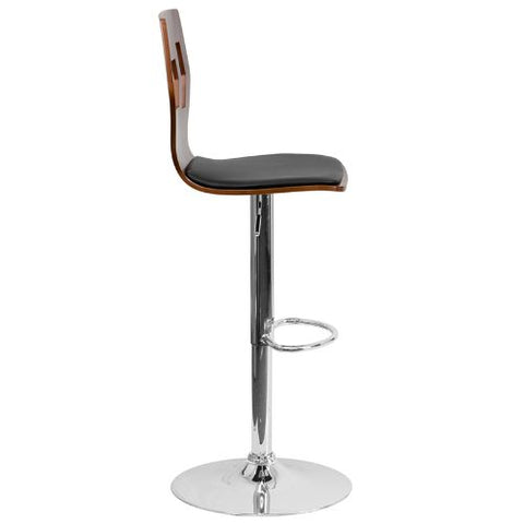 Flash Furniture Adjustable Bar Stool | Counter Height Wood Bar Stool�with Back SD2162WALGG ; Image 2 ; UPC 847254066341