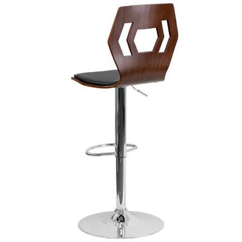 Flash Furniture Adjustable Bar Stool | Counter Height Wood Bar Stool�with Back SD2162WALGG ; Image 3 ; UPC 847254066341