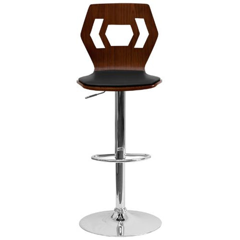 Flash Furniture Adjustable Bar Stool | Counter Height Wood Bar Stool�with Back SD2162WALGG ; Image 4 ; UPC 847254066341