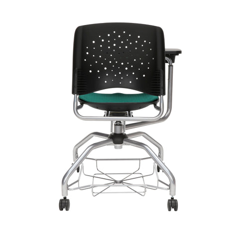 OFM Stars Foresee Series Tablet Chair with Removable Fabric Seat Cushion - Student Desk Chair, Forest Green (329T) ; UPC: 845123094273 ; Image 3