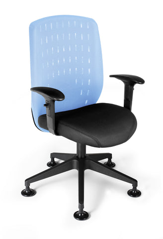 OFM Vision Executive Guest Chair - Mesh Back Conference Chair, Powder Blue (655-2710) ; UPC: 845123005927 ; Image 1