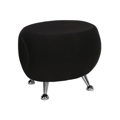 OFM Jupiter Series Fabric Ball Stool, in Black (2001-2327) ; UPC: 845123053348 ; Image 1