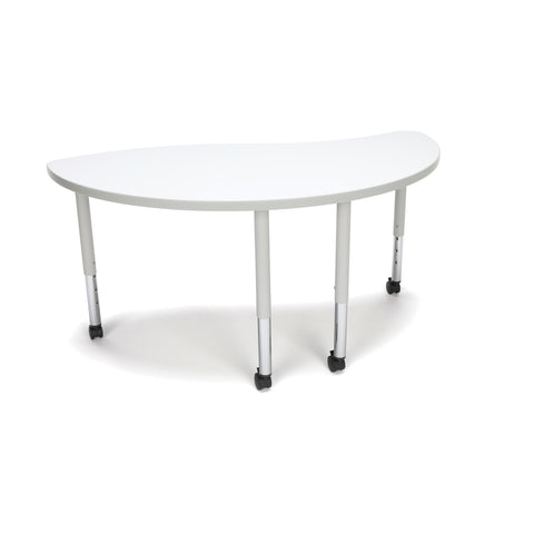 OFM Adapt Series Ying Student Table - 20-28? Height Adjustable Desk with Casters, White (YING-SLC) ; UPC: 845123096819 ; Image 1