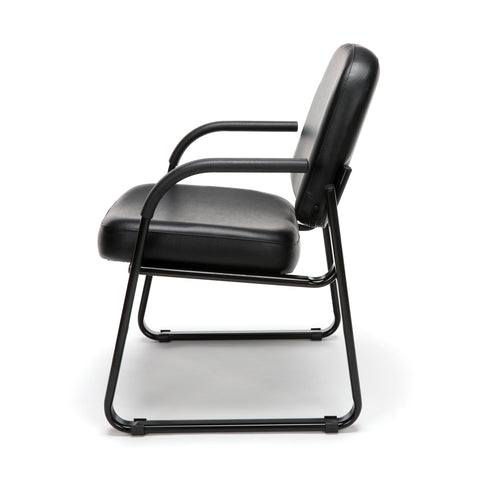 OFM Model 403-VAM Guest and Reception Chair with Arms, Anti-Microbial/Anti-Bacterial Vinyl, Black ; UPC: 811588014224 ; Image 5