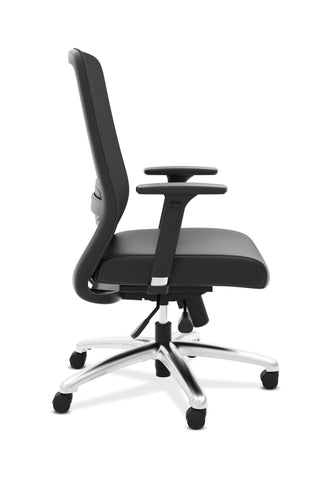 HON Exposure Mesh Task Chair - Mesh High-Back Computer Chair with Leather Seat for Office Desk, Black (HVL721) ; UPC: 089191242994 ; Image 4