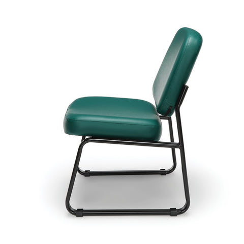 OFM Model 405-VAM Armless Guest and Reception Chair, Anti-Microbial/Anti-Bacterial Vinyl, Teal ; UPC: 811588014323 ; Image 5