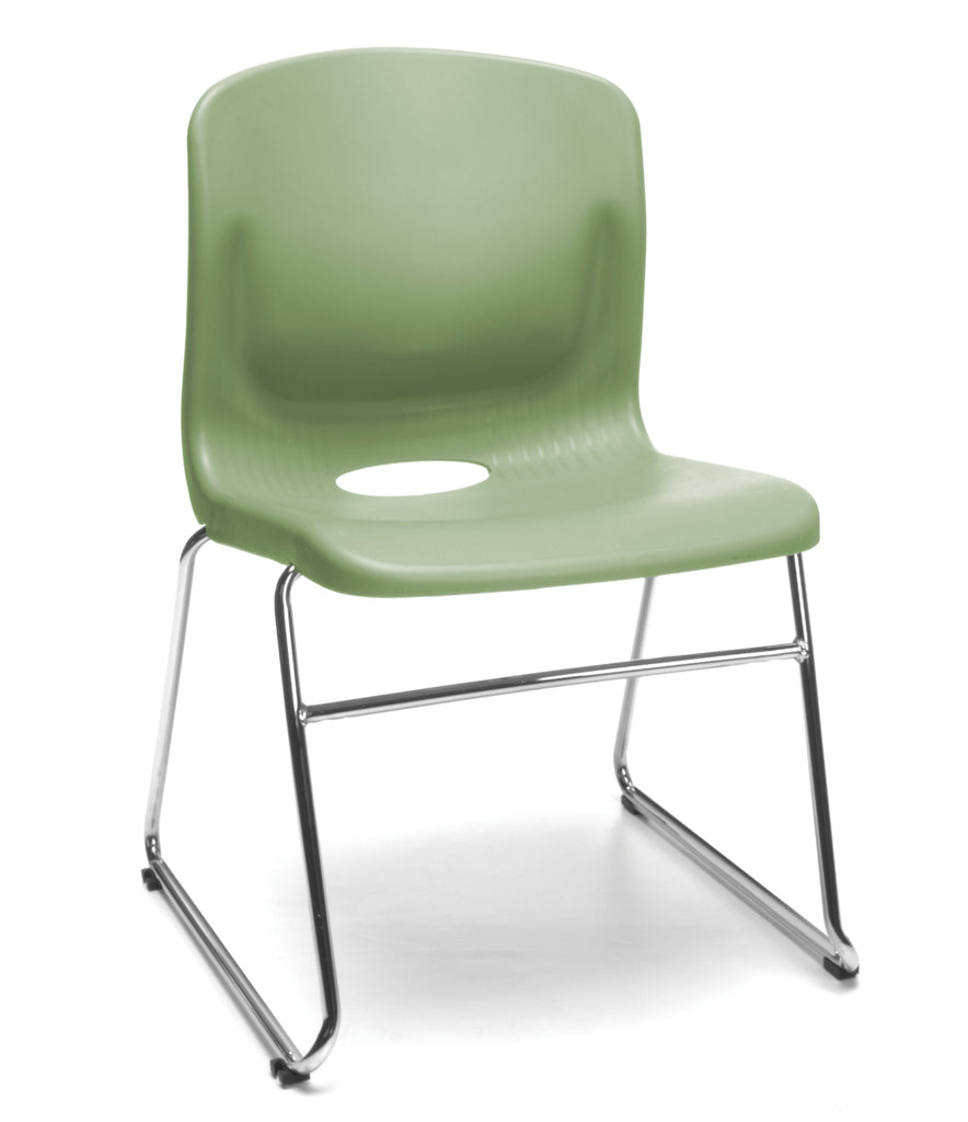OFM Model 315 Multi-Use Stack Chair, Plastic Seat and Back, Olive ; UPC: 845123034774 ; Image 1